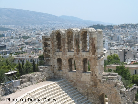 The Odeon of Herodes Atticus in Athens photographed by Donna Dailey for Greece Travel Secrets