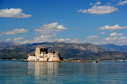 Nafplion in the Peloponnese region of Greece: http://www.greece-travel-secrets.com/Peloponnese.html