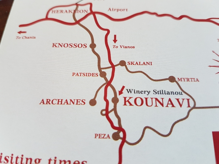 Directions to Stilianou Winery near Knossos on Crete