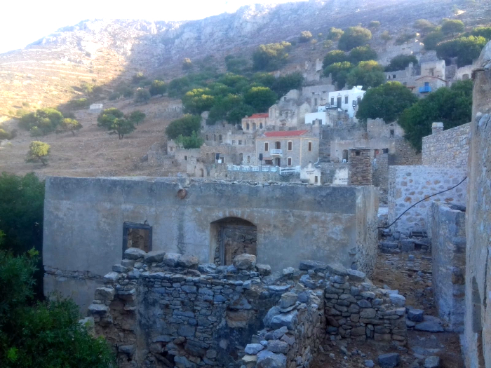 Abandoned village on Tilos