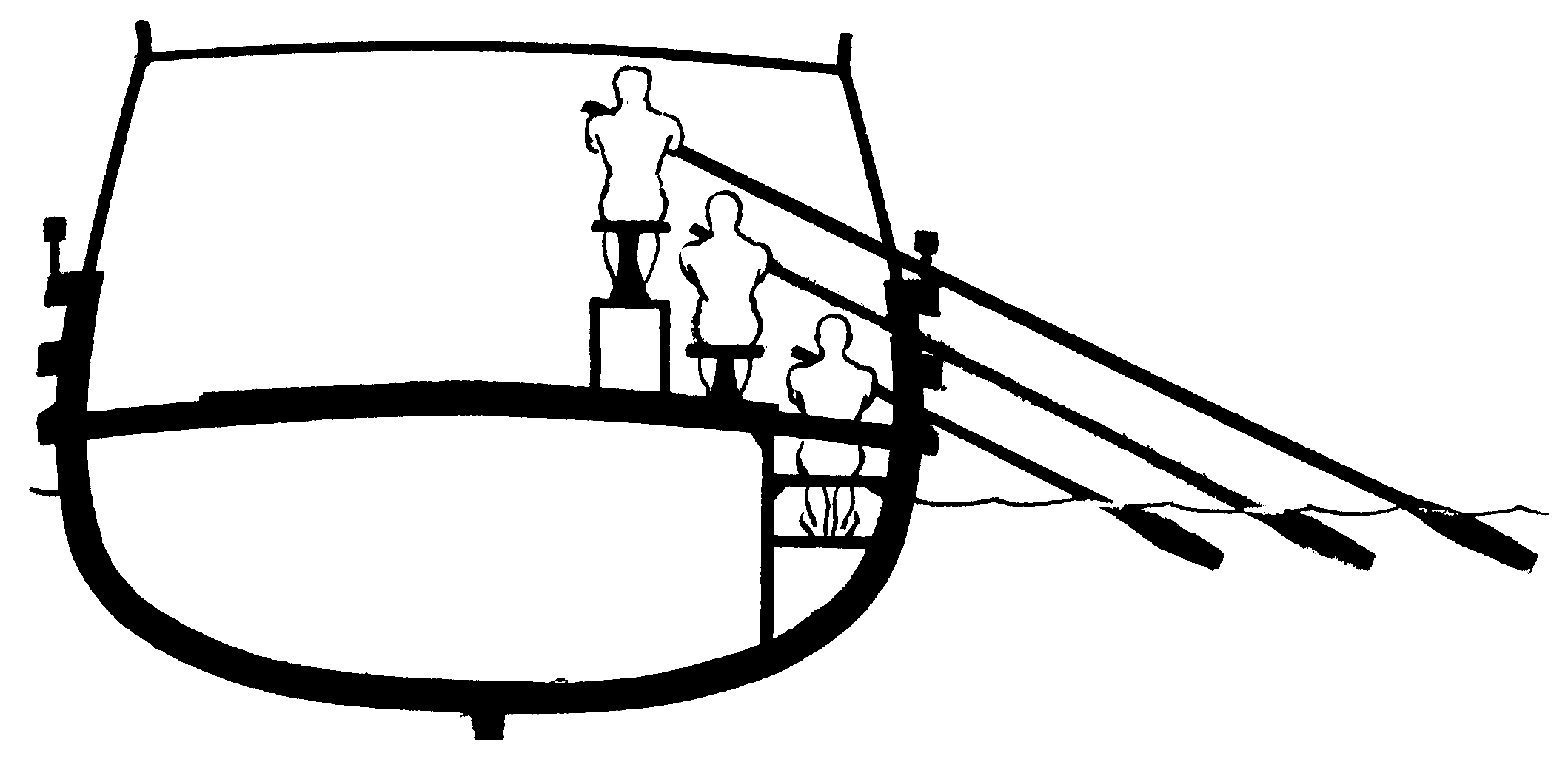 Trireme cross-section