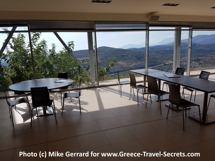 Tasting room with a view at the Zacharioudakis Winery on Crete