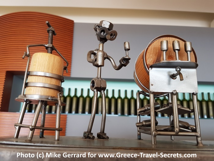In the tasting room at the Zacharioudakis Winery on Crete
