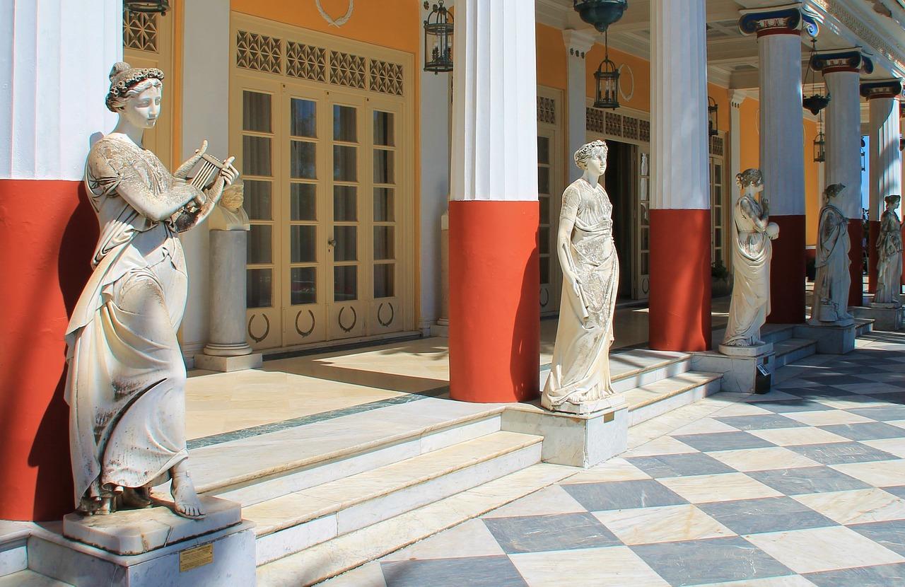 The Achilleion Palace on Corfu