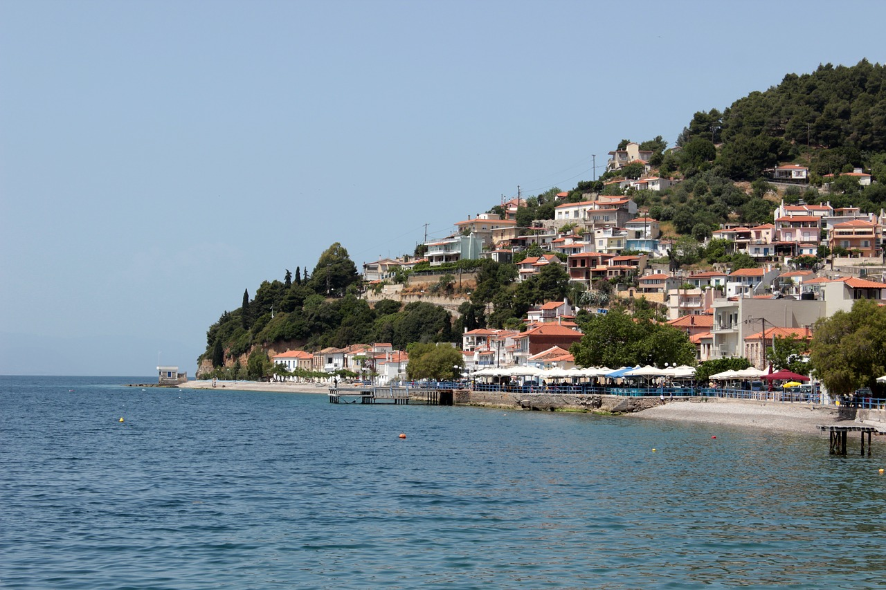 Seaside resort on Evia