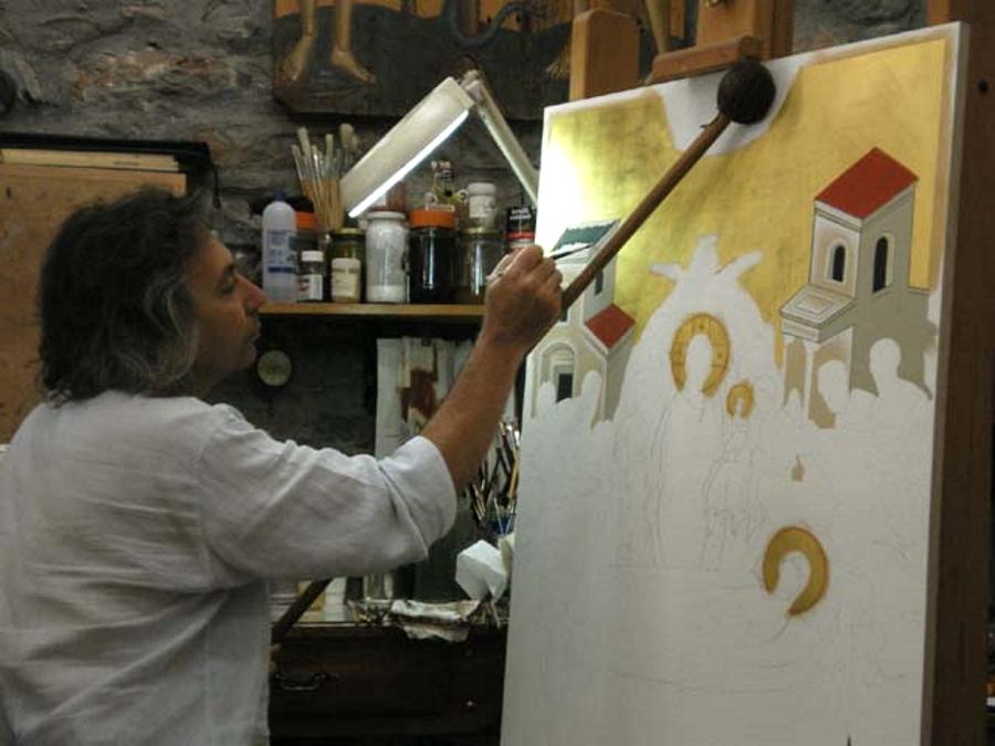 Greek icon painter Ioannis Petrakis