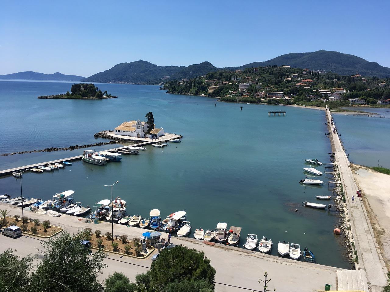 Kanoni (Mouse Island) on Corfu
