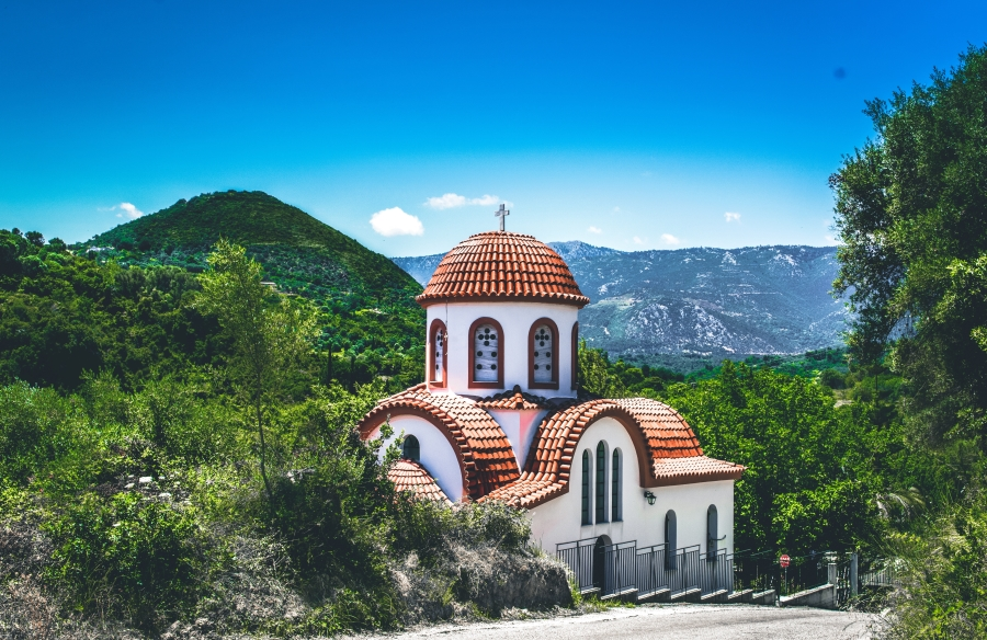 Church in Kymi on Evia