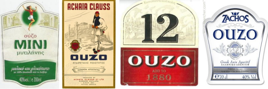 Ouzo labels
