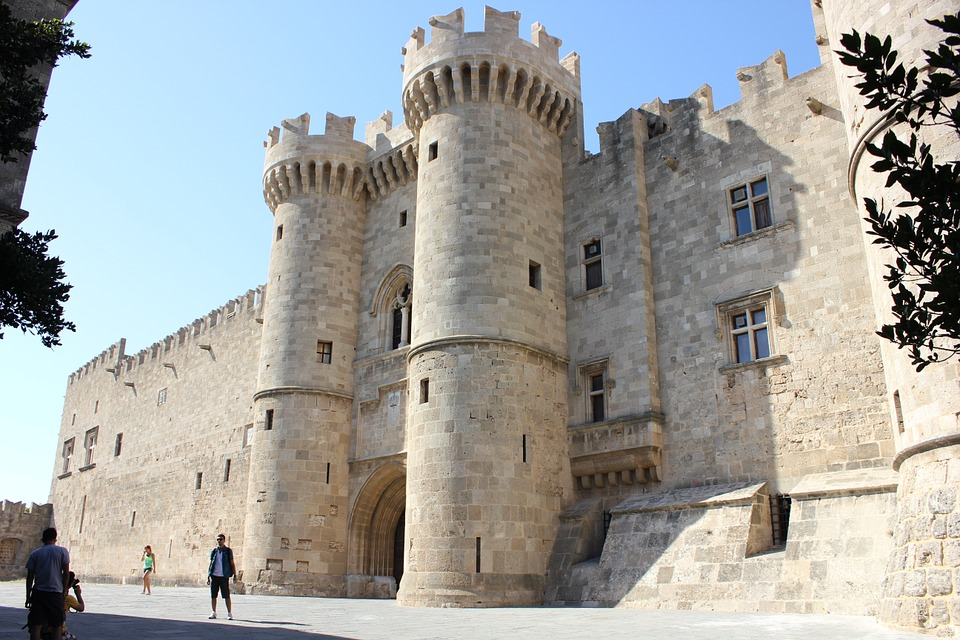 Palace of the Grand Masters in the Old Town of Rhodes