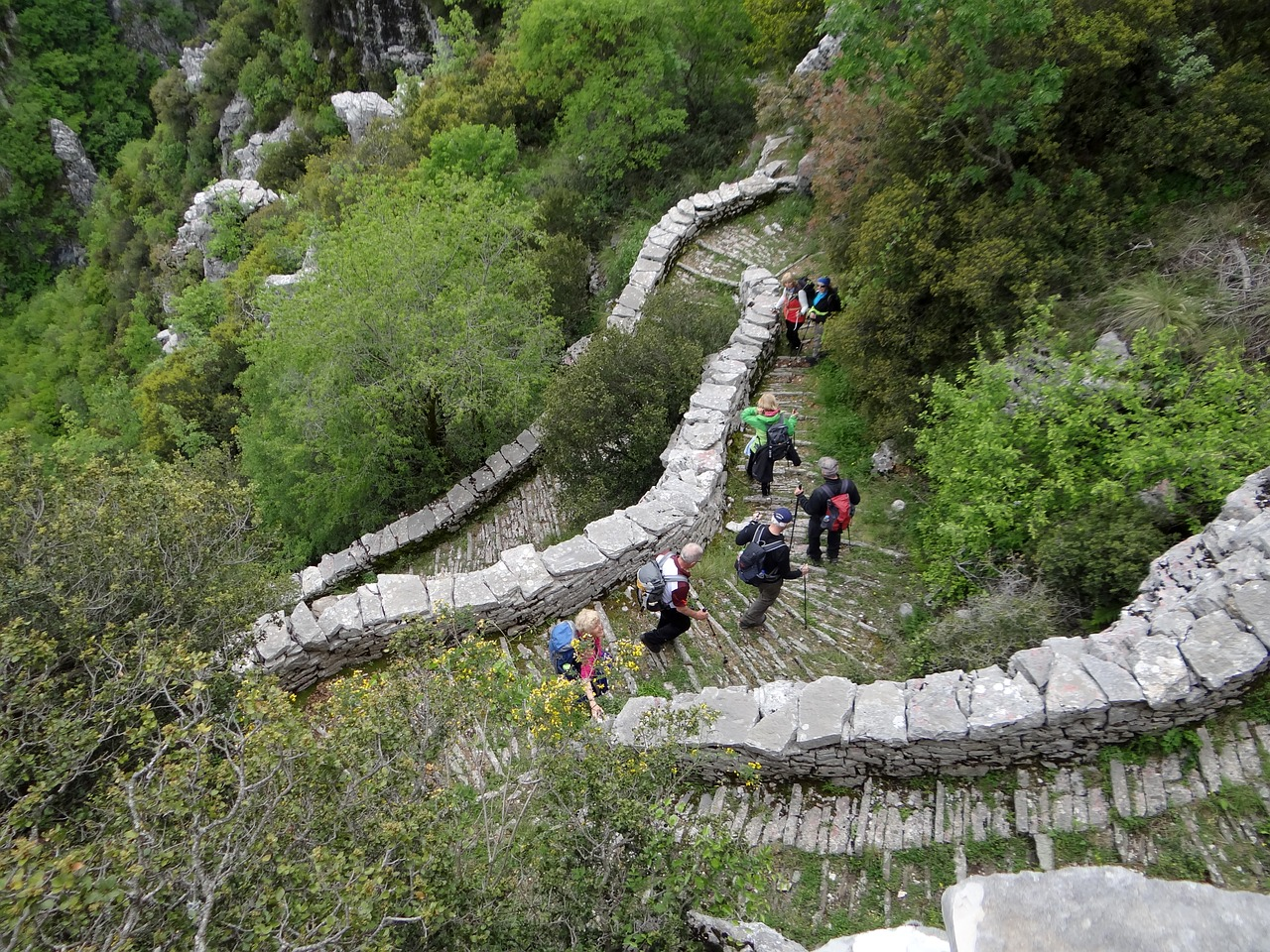 Hikers in The Vikos Gorge